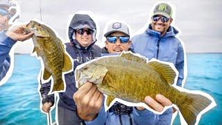 EPIC 💯BASS CHALLENGE!   Lake Michigan Smallmouth Fishing