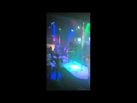 Girl Gets Slapped Off The Stage In A Slapping Contest Held In A Strip Club