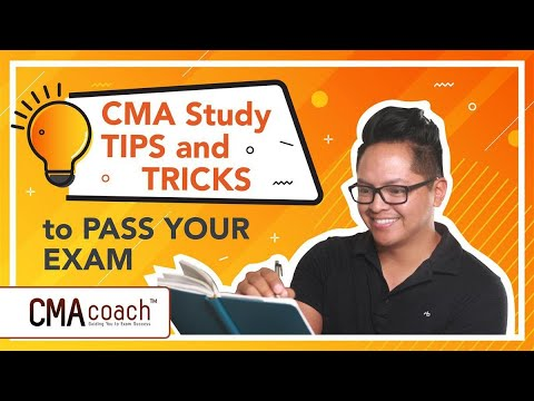 CMA Study TIPS and TRICKS to PASS YOUR EXAM - YouTube
