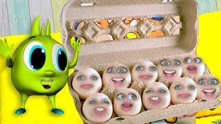 Screaming Easter Eggs gold Huge Eastert egg Рома и говорящие пасхальные яйца Для детей kids children