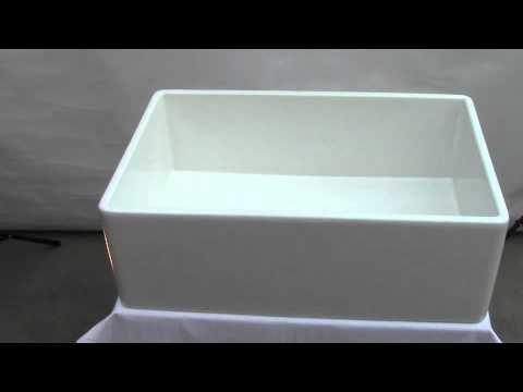 Video for White 30-inch Decorative Lip Apron Single Bowl Fireclay Farmhouse Kitchen Sink