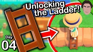 How to Unlock the Ladder! Animal Crossing New Horizons Gameplay #4