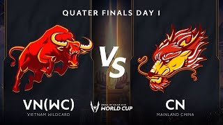 Việt Nam Wildcard vs Trung Quốc - Vòng Tứ kết - AWC 2019 - Garena Liên Quân Mobile
