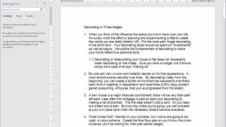 Microsoft Word Video 20 Multi Level Numbering all paragraphs