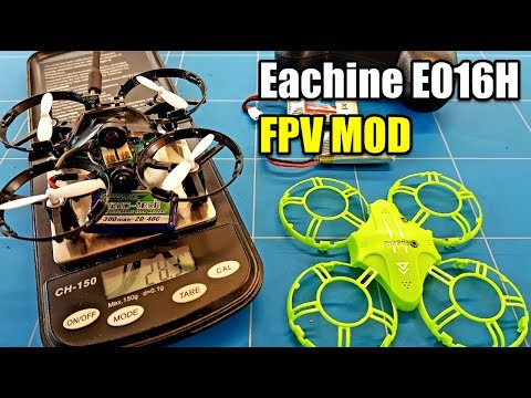 EACHINE E016H FPV MOD and LIPO BATTERY UPGRADE WITH FPV TEST FLIGHT