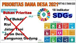 PRIORITAS DANA DESA 2021 -Permendes PDTT No.13 Tahun 2020