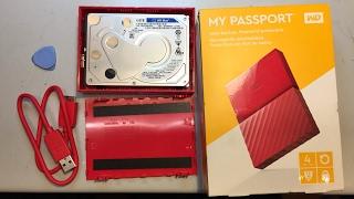 WD My Passport 4TB USB Festplatte Case opening öffnen keine SATA Schnittstelle #shucking