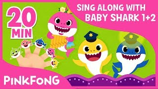 Baby Shark Season 1&2 ! | Sing Along with Baby Shark | Compilation | Pinkfong Songs for Children