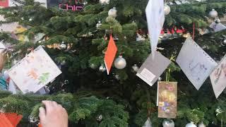 Wünschebaum der CDU in der Bismarckpassage