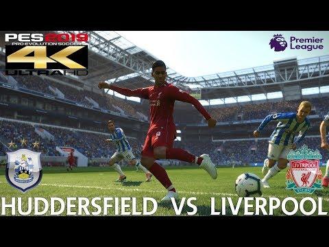 PES 2019 (PC) Huddersfield vs Liverpool   PREMIER LEAGUE PREDICTION   20/10/2018   4K 60FPS