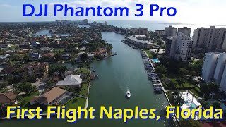 First flight with DJI Phantom 3 Pro 2015 - North Naples, Beach Entrance to Wiggins State Park