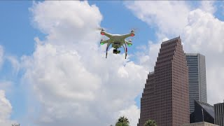 FLYING A DRONE IN DOWNTOWN HOUSTON!