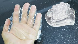 How to Make PURE CLEAR SLIME with Hair Gel 💦 No Borax Recipe