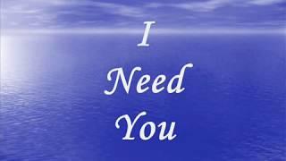 LeAnn Rimes I Need You Lyrics