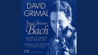 Sonata No. 1 in G minor, BWV 1001: I. Adagio