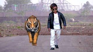 CHOTU DADA AUR TIGER | छोटू और टाइगर | Khandesh Hindi Comedy | Chotu Comedy Video