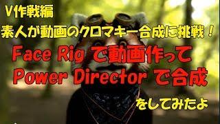 素人が動画のクロマキー合成に挑戦! Face Rigで動画作って Power Director で合成 をしてみたよ