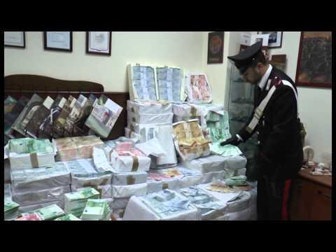 Villaricca (NA) - Scoperti 52 milioni di euro falsi in una cantina -2- (12.02.15)