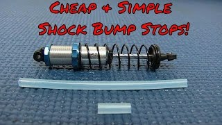 How to make Cheap Custom Bump Stops For Your RC Truck Shocks