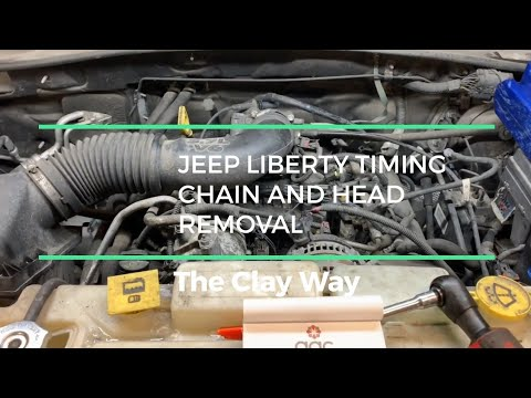 Фото к видео: Jeep liberty 3.7 head / timing chain removal