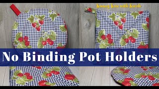 (10 Min. Sewing) No Binding Pot Holder | Sewing For Beginners | Easy Pot Holder Tutorial