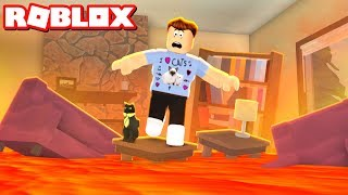 THE FLOOR IS LAVA IN ROBLOX
