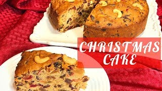 Christmas cake recipe- Rich Fruit Cake/ Plum Cake