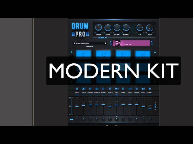 StudioLinkedVST - DRUM PRO VST (Free Drum Machine) Hip-Hop,Trap,EDM