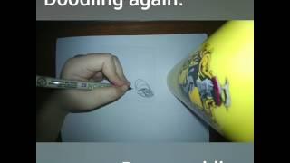 Doodle ft. Hufflepuff tumbler and Naruto