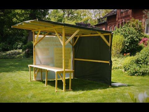 Marktstand, Verkaufsstand, Infostand - mobil - Gartenhaus schnell und einfach selber bauen