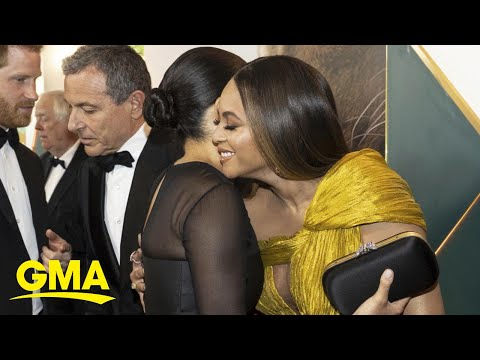 Prince Harry and Duchess Meghan meet Beyonce at UK 'Lion King' premiere | GMA