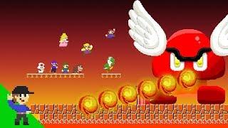 Level UP: Team Mario Vs Giant Fire Paragoomba