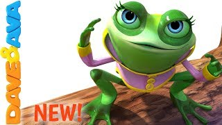 👍 Five Little Speckled Frogs | Nursery Rhymes from Dave and Ava 👍