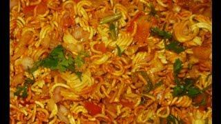 How to make Instant Snack Noodles Bhel (Wai Wai Noodles)