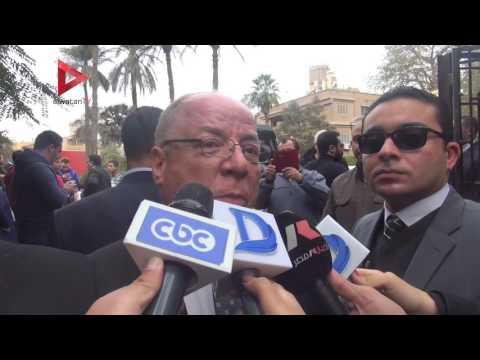 حلمي النمنم وعمرو موسي يشيعان جنازة سيد حجاب