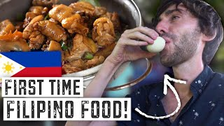 What Is FILIPINO FOOD Like? Foreigners FIRST TIME Eating 15 CLASSIC DISHES In The Philippines 🇵🇭
