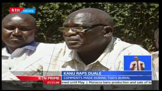 KANU officials condemn Aden Duale's recent comments