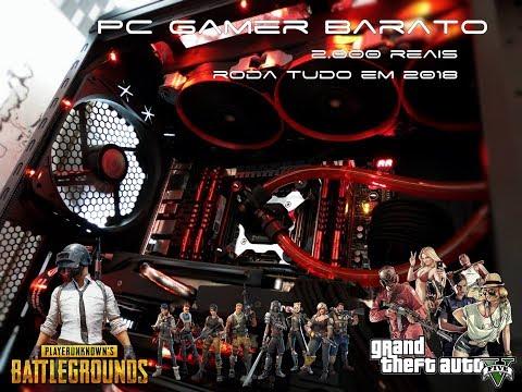 PC Gamer Barato AMD - PUBG e Fortnite (R$2000) Roda TUDO - Teste GTA V