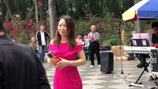 2018年4月26日  屯门公园表演  旺角菜街艺人singing  乐儿 情若无花不结果