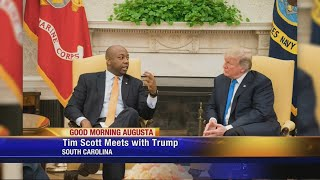 Tim Scott and President Trump