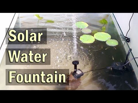 Solar Water Fountain Pump Kit for Outdoor Ponds, Patio and Aquariums – Review
