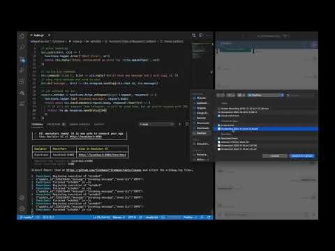 EchoBot with Firebase Simulator