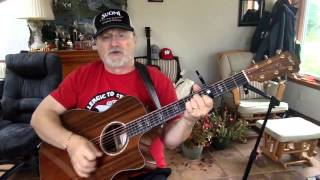 1915  - 1913 Massacre -  Woody Guthrie vocal & acoustic guitar cover & chords