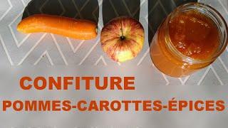 Confiture pommes, carottes, épices