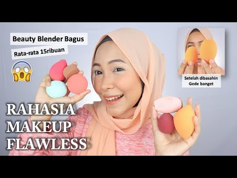 MAKEUP FLAWLESS PAKAI BEAUTY BLENDER MURAH
