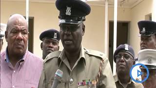 OCPD Mugambi addresses the media after officers arrest a notorious