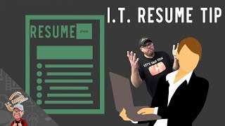 I.T. Resume Tips - Listing Skills with NO Experience, Degree, or Certification