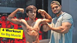 4 Workout এর মাধ্যমে বড় মাসেল তৈরি করুন | Bangla Fitness Tips