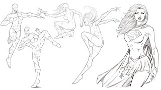 Drawing More POSES For Comics - Practice This Daily!!!
