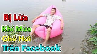 Lâm Vlog - Bị Lừa Khi Mua Ghế Hơi Sofa Trên Facebook   Dùng Thử Ghế Sofa Hơi